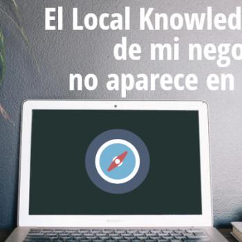 Local Knowledge Graph de Google desaparecido